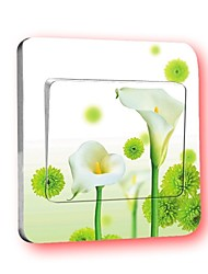 Switch Wall Stickers Wall Decals, Calla Flowers Creative PVC Switch Sticker