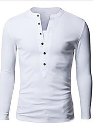 Camisetas (Algodón Manga Larga para Hombre