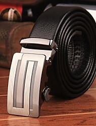 New Designer Famous Brand Men Belts Business Solid Genuine Leather Male Waist Straps Metal Automatic Buckle Belts