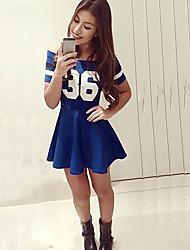 Women's Off Shoulder Mini Short Sleeve Bodycon Dress