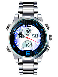 Fashion Watches Men Luxury Quartz Digital Watch Colourful LED Full Stainless Steel Casual Wristwatches Relogio Masculino