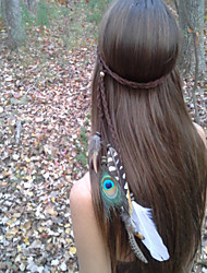 Feather Headband, Bohemian Headband, Native American, Braided Headband, Indian Headband
