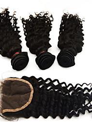 """4pcs lot 10 """"-28"""" peruano extensiones de cabello humano venta caliente con el grado de cierre 6a excelente remy virginal del pelo en línea"""