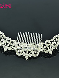 Neoglory Jewelry Royal Hair Comb Tiara with Clear Rhinestone for Lady/Party/Wedding/Daily (More Color)