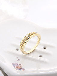 Sjeweler Ladies Girls Gold Plated Wedding Zircon Ring