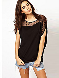 Women's Inelastic Short Sleeve Regular Blouse