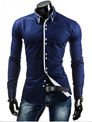 heaven  Men's Casual Shirt Collar Long Sleeve Casual Shirts