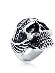 Men's  Funny Skull Titanium Ring