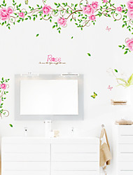 Wall Stickers Wall Decals, Rose PVC Wall Stickers