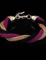 Elegant Fashion Women's Twist Link Ponytail Bracelets(Gold,Blue,Purple&Black)(1 Pc) Christmas Gifts