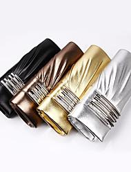 Handbag Faux Leather Evening Handbags European and American Fashion Joker with Long Drill with Chain Handbag Party Bag