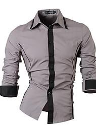 Men's Long-sleeved Striped Shirt Fake Tie Striped Long-sleeved Shirt
