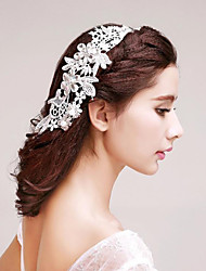 Stylish Embroidery Lace Wedding/Party Headpieces with Rhinestones