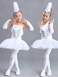 Ballet Tutus Children's Performance/Training Acrylic/Spandex Crystals/Rhinestones 1 Piece White Kids Dance Costumes