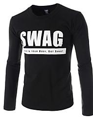 Manlodi Men's Long Sleeve T-Shirts (Cotton)