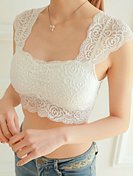 Women's Cotton Lace Wireless Full Coverage Bras