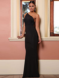 Women's Prom Party Long Dress with Low Cut-out Back