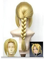 New Stylish Blonde Cosplay Wig Knitting Synthetic Hair Wigs Long Kinky Curly Man's Animated Wigs Party Wigs