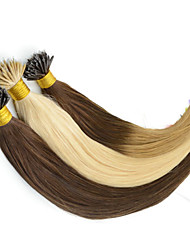 "12 ""-26"" nano kraal hair extensions indian 100s straight 100% indian nano ring hair extensions + 100beads"
