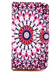 Pour Coque Nokia Etuis coque Portefeuille Porte Carte Avec Support Coque Intégrale Coque Fleur Dur Cuir PU pour Nokia Nokia Lumia 630