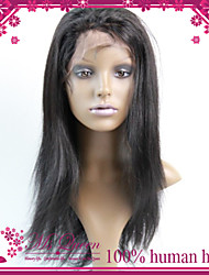 Promotion Top Quality Brazilian Virgin Lace Frontal Human Hair Half Wig 130% #1 #1B #2 #4 Straight Glueless Wigs