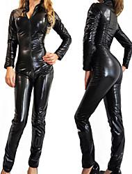 sm reina v medias collar de cuero negro de la PU uniformes atractivos