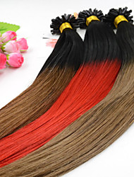 100pcs 12-26 Inch Brazilian Human Virgin Hair Ombre Dip Dye U Tip Hair Extensions Two Tone Nail Tip Hair Extensions 001