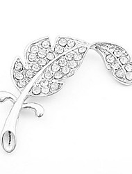 Lucky Star Women's Fashion Rhinestone Feather Brooch
