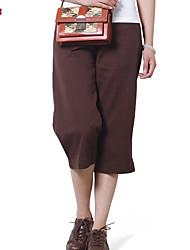 Women's Vintage/Casual/Work/Plus Sizes Straight Pants , Cotton/Spandex Micro-elastic