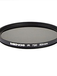 MENGS® 52mm Infrared Filter IR 720nm With Aluminum Frame For Digital Camera