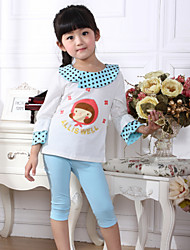 Girl's Spring Summer Thin Clothing Sets (Cotton/Wool)
