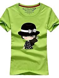 Ms. Couples summer short sleeve T-shirt black hat # 027