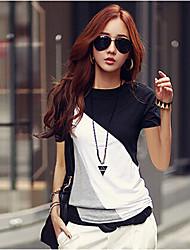 Camisetas ( Rayón )- Casual Redondo ½ Longitud de manga