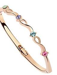 Legering Dames Ronde Armbanden Armbanden Kristal