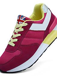 Zapatos de mujer ( Rojo/Azul marino Ante
