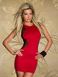 Vestidos ( Vermelho , Algodão/Poliéster , Salão de Baile/Roupas de Balada ) - de Salão de Baile/Roupas de Balada - Mulheres