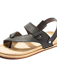 Men's Shoes Outdoor Leather Sandals Black/Brown