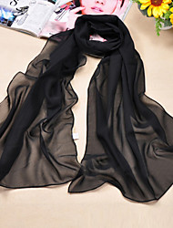 Women's Cute/Casual Chiffon/Polyester Solid Color Scarves