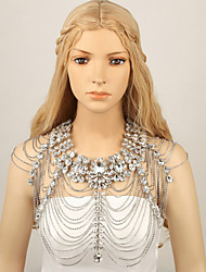 Ladies' Wedding  Rhinestone Flowers Shoulder Chains