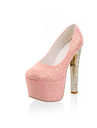 Women's Shoes Stiletto Heel Heels/Closed Toe Pumps/Heels Wedding/Party & Evening/Dress Yellow/Pink/White