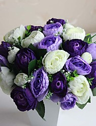 Bouquet sposa Tondo Peonie Bouquet Matrimonio Poliestere 15 cm ca.