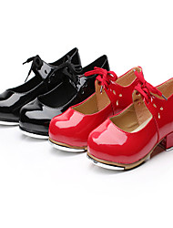 Kids'/Women's Flat Tap Leather Dance Shoes