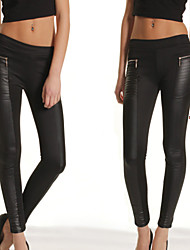 VICONE  Women's Sexy Faux Leather Leggings Pants