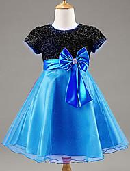 Girl's Summer/Spring/Fall Sheer/Medium Sleeveless Full Dresses (Cotton Blends/Polyester)