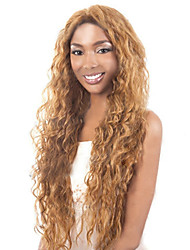 Small Volumes Of The New European And American Golden Brown Long Curly Hair Wig