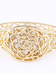 Women's European Style Trend Shiny Metal Rose Alloy Fashion With Rhinestone Bracelet