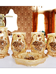 The Gorgeous Pattern Bathroom Ware 5 Sets/Yellow