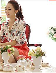 deewo loose fit bloemenprint t-shirt van vrouwen