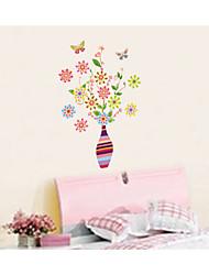 parede adesivos de parede decalques, flores e vasos de pvc adesivos de parede
