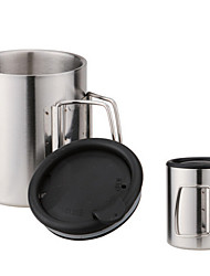 Fire-Maple FMP-303+ Double Stainless Steel Cup 320ml Cup of Outdoor Camping Trip to The Mountains
